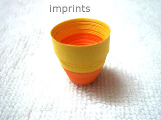 paper quilled flower pot or vase