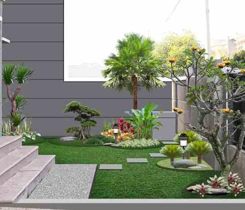 Desain Rumah Minimalis Dengan Taman Konsep modern
