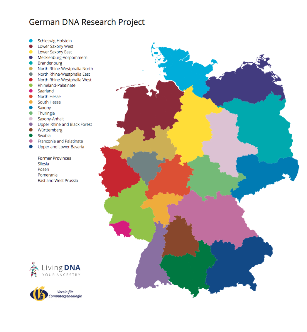 GeneaMusings New Living DNA Project Aims To Map Germanys - Germany uk map