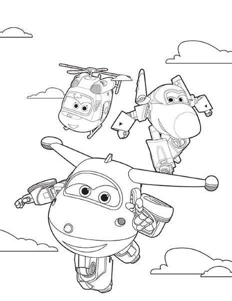 Super wings smart coloring pages 3