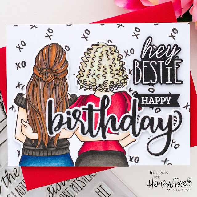 Hey Bestie Birthday Card,Honey Bee Stamps, Love Letters, IG Hop, Instagram,Best Friends, Birthday Card, Card Making, Stamping, Die Cutting, handmade card, ilovedoingallthingscrafty, Stamps, how to,