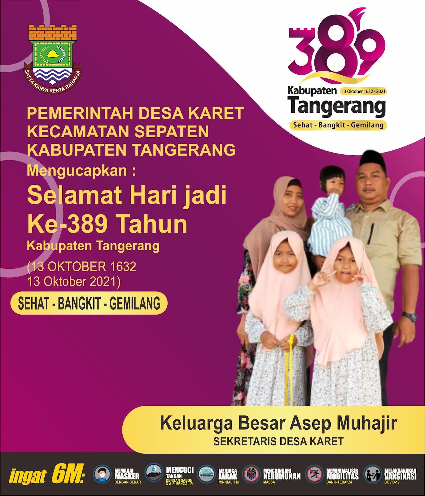 Hari Jadi Kabupaten Tangerang Ke-389 Pemerintah Desa Karet Kecamatan Sepatan