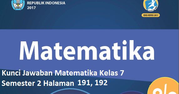 Kunci Jawaban Matematika Kelas 7 Semester 2 Halaman 191 192 Kosingkat