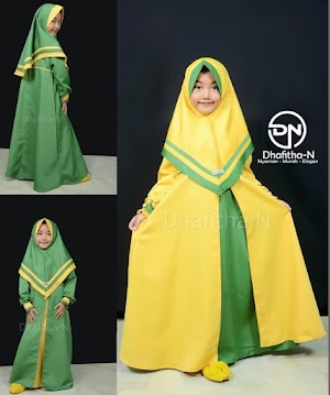 Gamis Anak Perempuan Dhafitha-N Awaliah | Kuning-Hijau