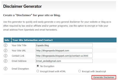 Cara Simple Membuat Disclaimer untuk Blog 3