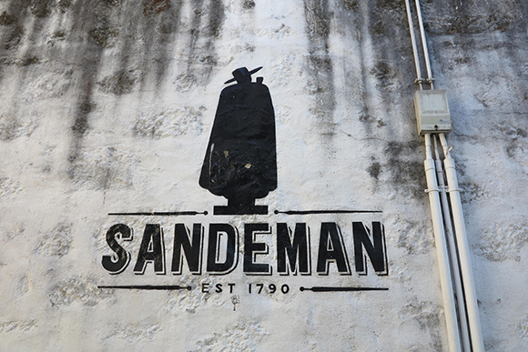 The Sandeman logo is one of the world's first