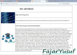 Contoh17 (Artikel) : Webpro