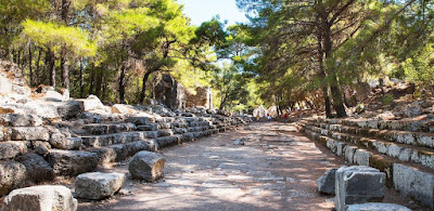 Antik çağdan demografisi bozulmuş bir kent örneği.. phasalis