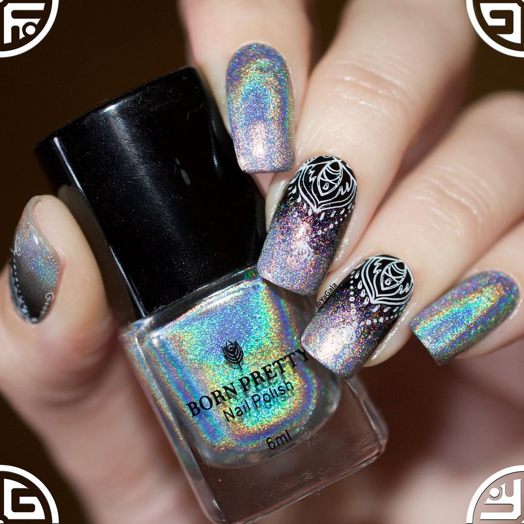 Born Pretty Store Blog: Holographic Stamping Nails-Benefit for Nail ...