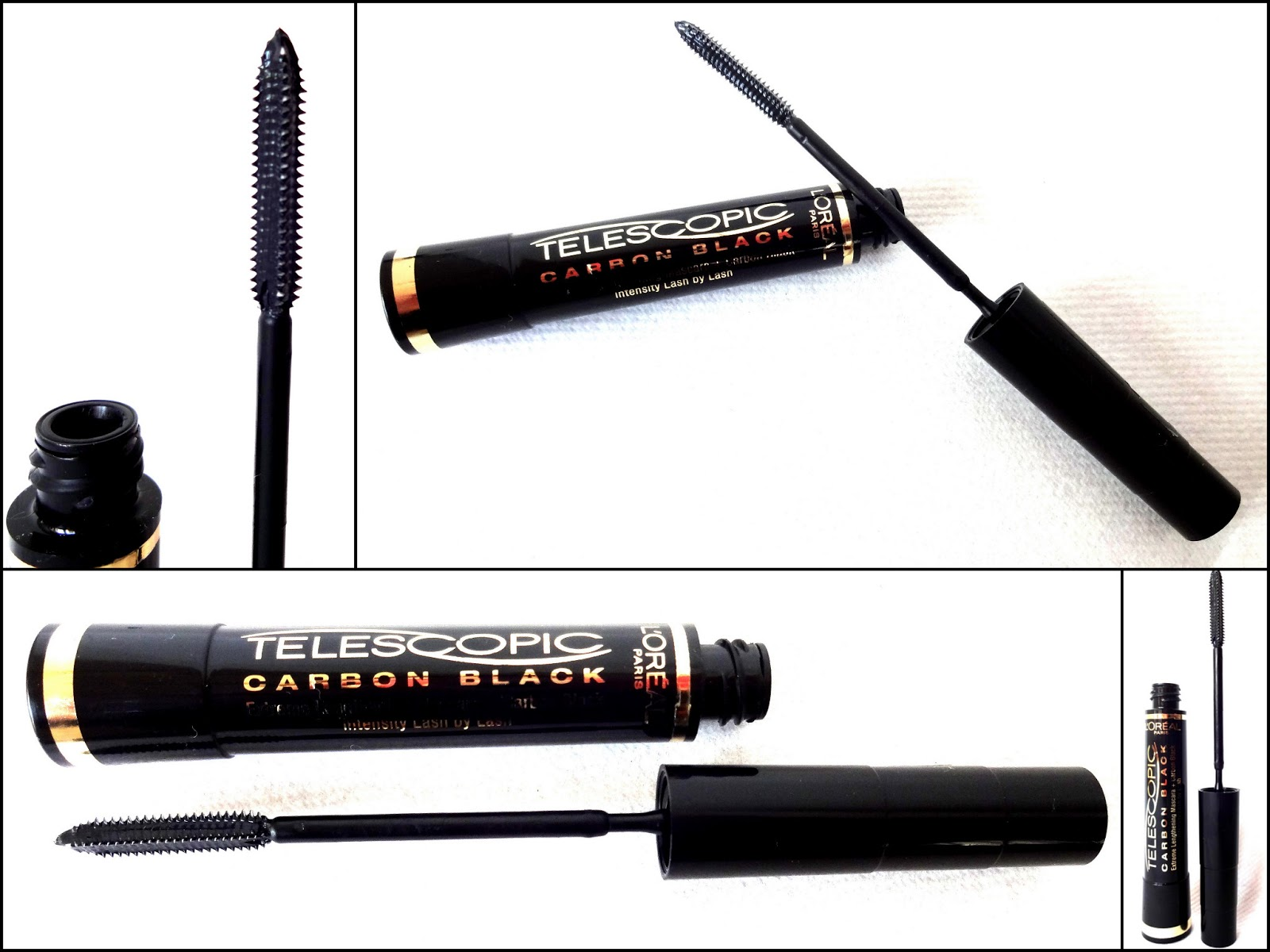 Tragebilder des L'Oréal Mascara Primers und der L'Oréal Telescopic Carbon Black Mascara
