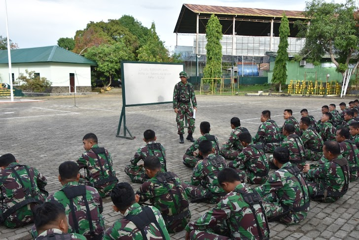 Personil Korem 141/Tp melaksanakan Latihan Dasar Perorangan (Latorsar)