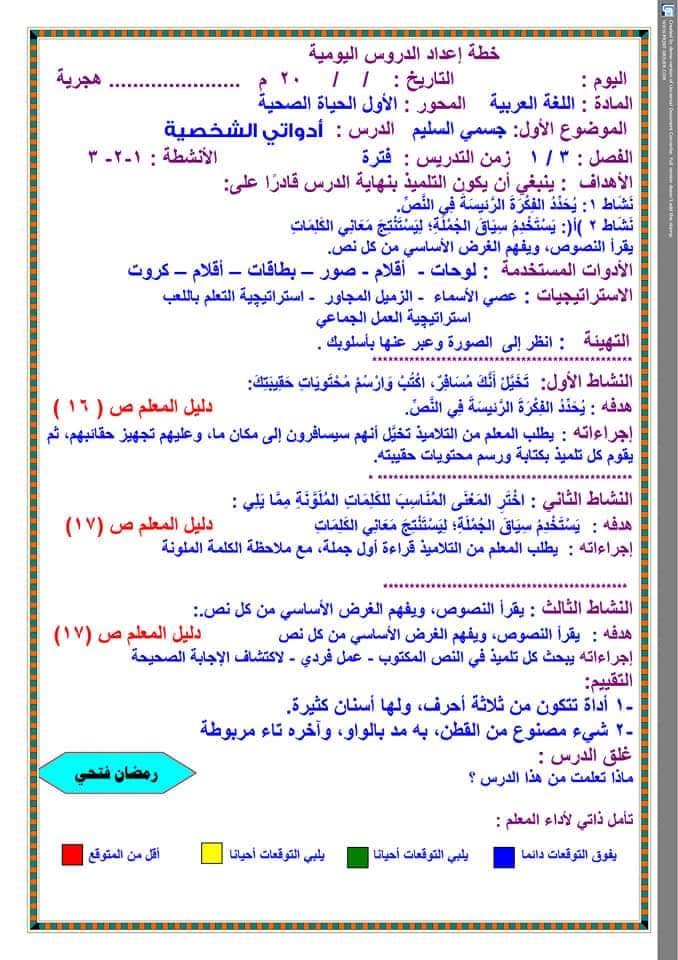 تحضير دروس نافذة اللغة العربية للصف الثالث الابتدائي  أ / رمضان فتحي 13