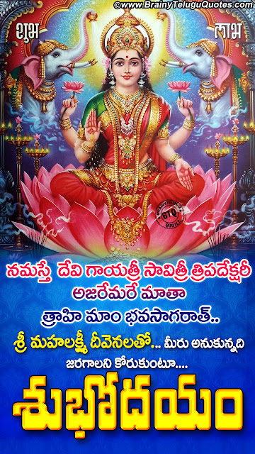 telugu bhakti quotes, good morning messages in telugu, subhodayam images