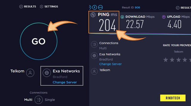How to Check the Internet Ping Speed ​​at Specific Sever