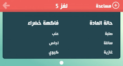 حلول لعبة حلها واحتلها لغز 5 - لغز رقم خمسة