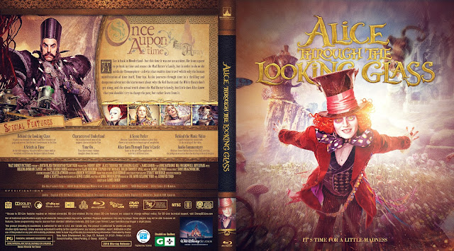 Alice Through the Looking Glass Bluray Cover