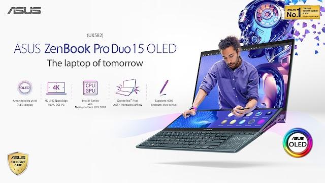 ASUS เอาใจสายครีเอเตอร์ เปิดตัว ZenBook Pro Duo 15 OLED (UX582)  มาพร้อมหน้าจอสอง Tilting ScreenPad Plus อัพเดทใหม่ ตัวช่วยคนทำงานที่ตอบโจทย์ยิ่งขึ้น