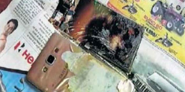 SAMSUNG GALAXY A7 मोबाइल टाइम बम की तरह ब्लास्ट हुआ | MP NEWS