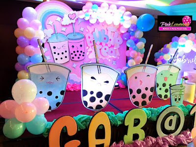 Bubble Tea Stage Backdrop theme