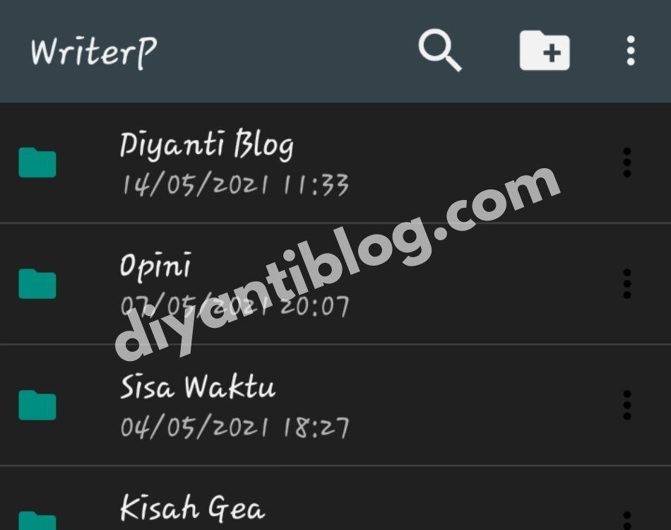 Aplikasi menulis offline writerp