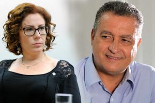 """Carla Zambelli  faz alerta a Rui Costa : """"A PF está chegando"""""""