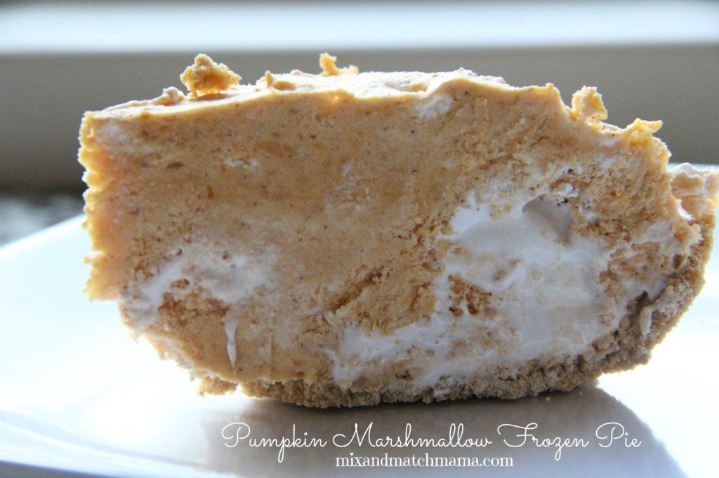 pumpkin marshmallow frozen pie
