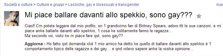 Sono gay?