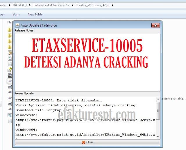 eFaktur Error ETAXSERVICE-10005 Data Tidak Ditemukan