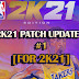 NBA 2K21 PATCH UPDATE V1.03 DOWNLOAD [FOR OFFLINE]