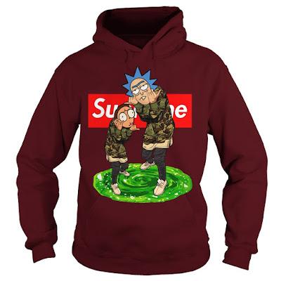 rick and morty supreme hoodie, rick and morty supreme crewneck, rick and morty supreme sunfrog
