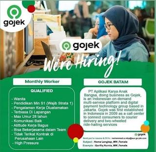 Lowongan Kerja Batam PT. Gojek Indonesia - Lowongan Kerja ...