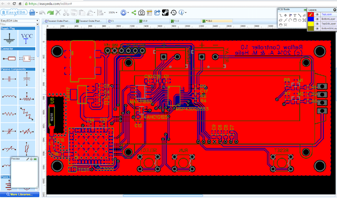 Προσομοίωση κυκλωμάτων και σχεδίαση PCB - EasyEDA
