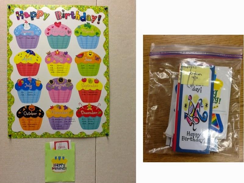 My Teachers Blog Easy Birthday Reminder Chart