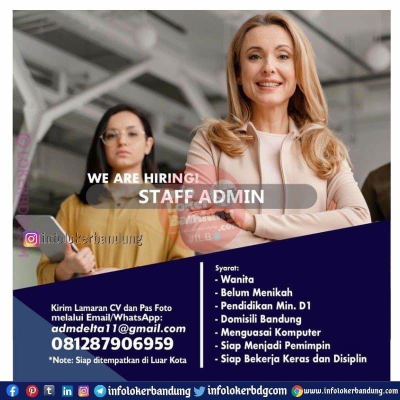 Lowongan Kerja Staff Admin Bandung April 2021