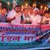 सिवान:गलवान में शहीद जवानों के सम्मान में ग्रामीणों ने निकाला कैंडिल मार्च