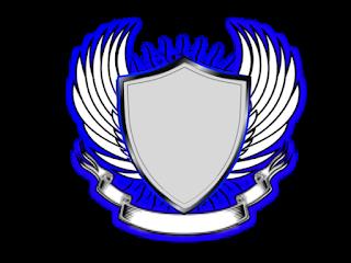 Logo Polos Perisai Bersayap tengah hitam pinggir biru