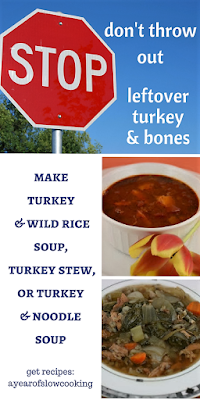 Three amazing soup recipes to make with leftover turkey meat and bones. Turkey stew, turkey and wild rice soup, and turkey noodle soup. Each one has it's own flavor profile. Delicious!!