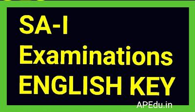 SA-I Examinations 6th-to-10th-class-English-Key-papers-2019