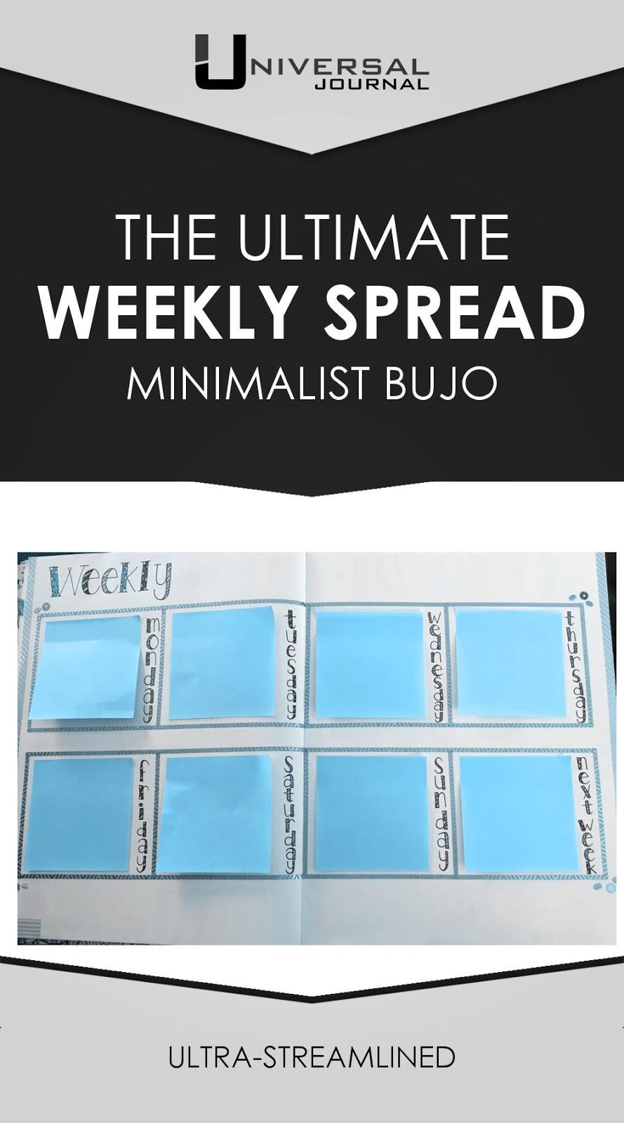 bullet journal ultimate weekly spread minimalist