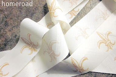 How to Make Your Own French Stamped Ribbon