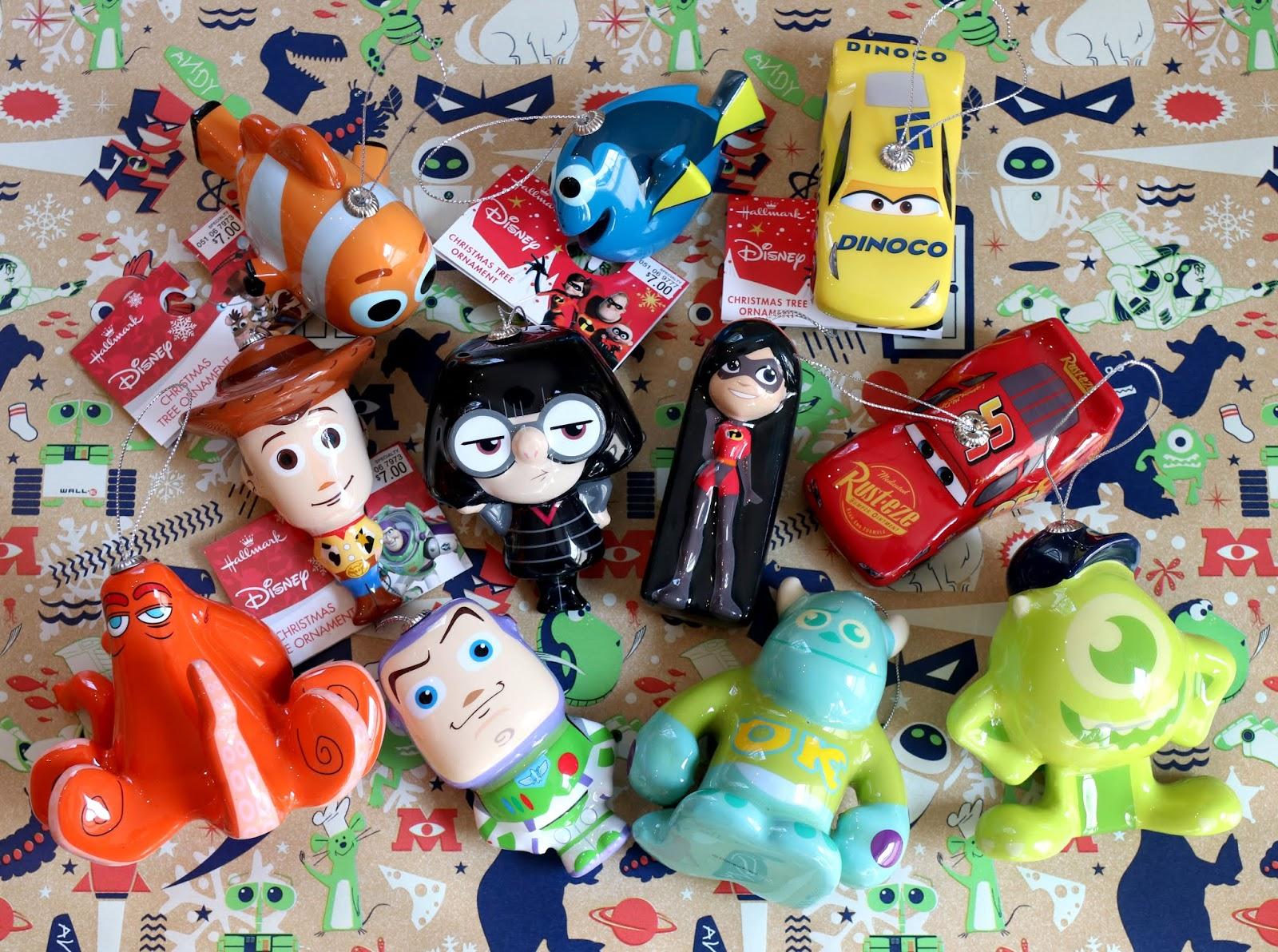 pixar hallmark target decoupage ornaments