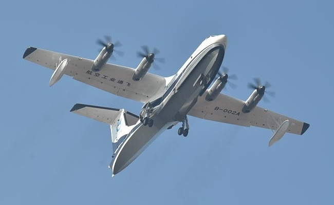 Tinuku China's AVIC AG600 amphibious aircraft made its first flight