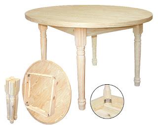 mesa redonda desmontable