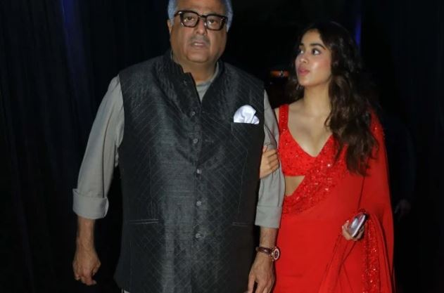 Boney Kapoor with Daughter Janhvi Kapoor
