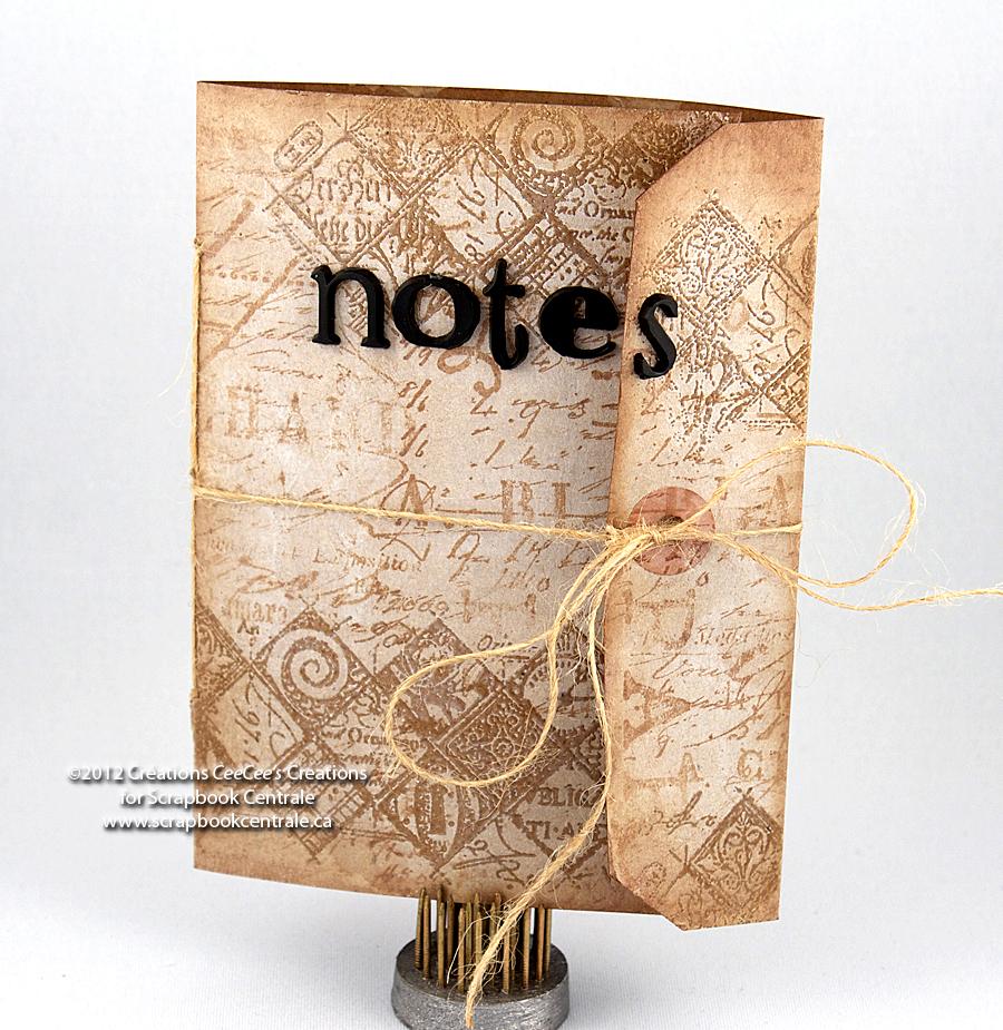 scrapbook centrale mardi machin truc carnet de notes tiquette tag notebook. Black Bedroom Furniture Sets. Home Design Ideas
