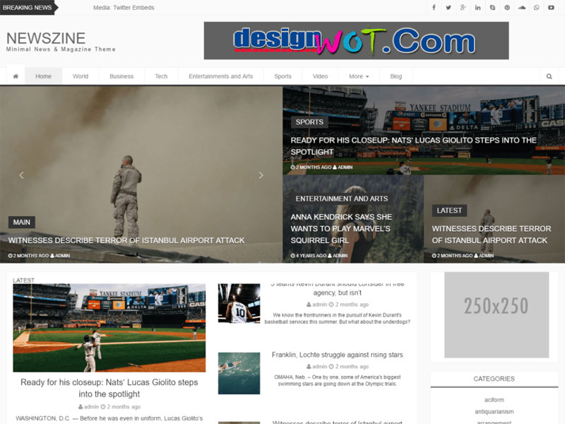 Newszine Theme Responsive WordPress