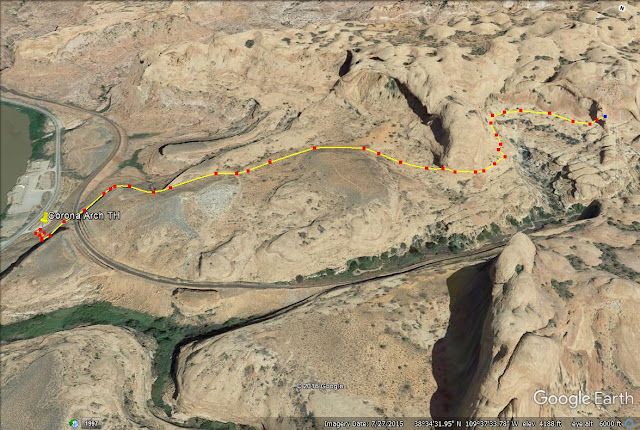 Corona Arch Trail map