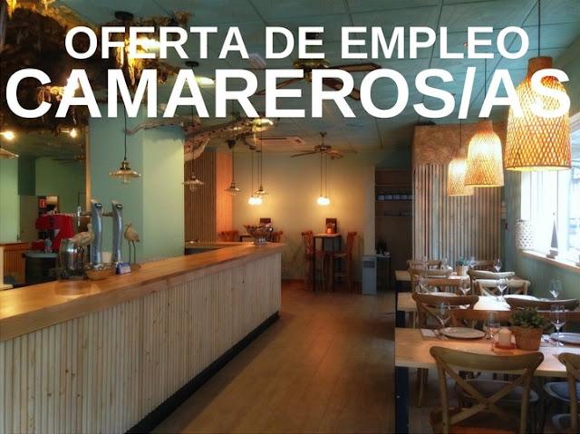 Oferta de empleo: Camareros / Camareras