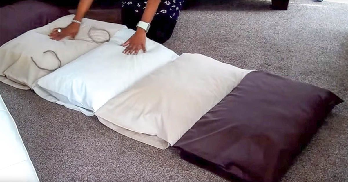 How To Sew A Large Floor Pillow : DIY Pillow Floor Cushions - DIY Craft Projects