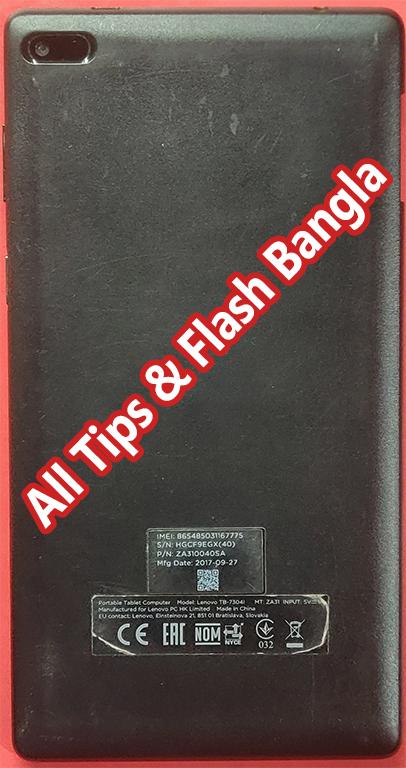 Lenovo TB-7304i Flash File | Without Password